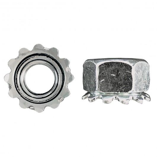 10-24 Keps Lock Nut-Zinc Plated