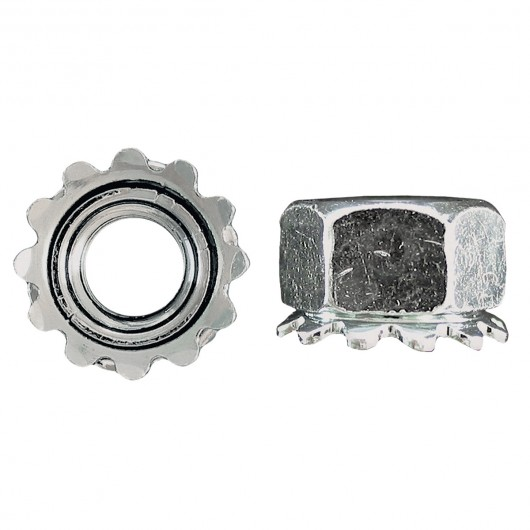10-32 Keps Lock Nut-Zinc Plated