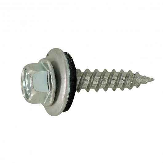 "10 x 1"" Self-Sealing Roofing / Siding Screw-Zinc Plated"