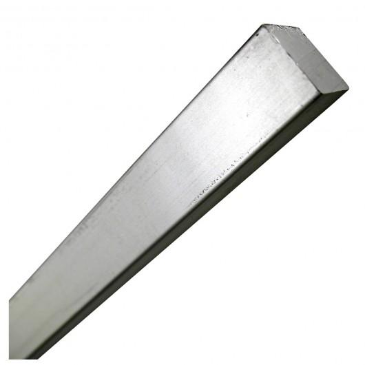 "1/4"" x 1' Steel Square Rod Zinc Plated"