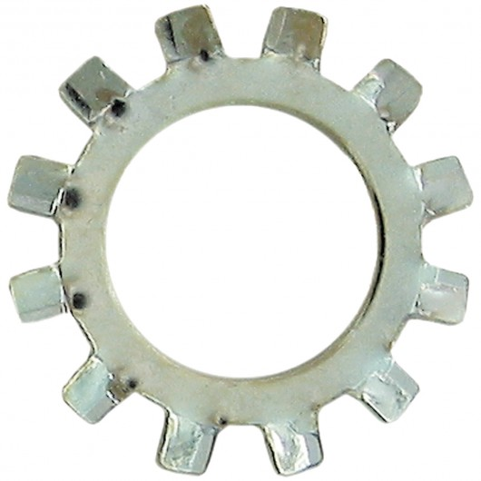 No.8 External Tooth Lock Washers-Zinc Plated