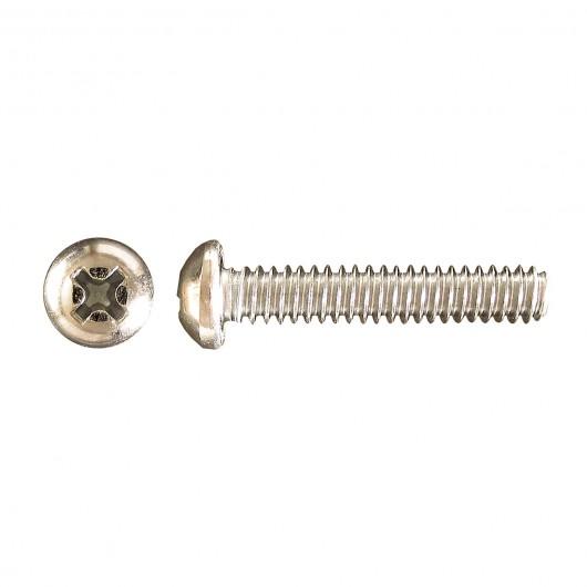 "8-32 x 1/4"" Pan Head Phillips Machine Screw-Zinc Plated"
