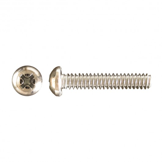 "4-40 x 3/4"" Pan Head Phillips Machine Screw-Zinc Plated"
