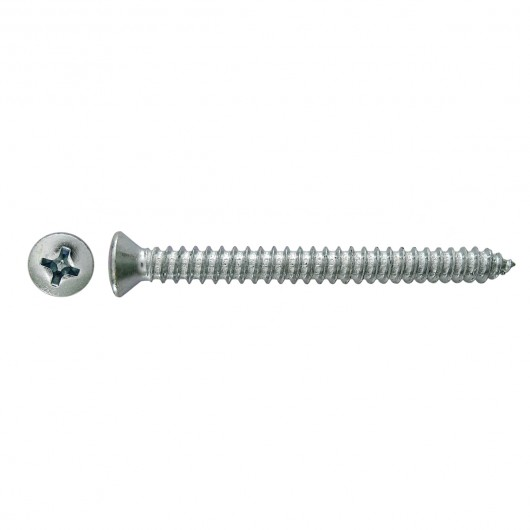 "10-13 x 2"" Steel Small Oval Head Phillips Drive Tapping Screw-Type A-Zinc Plated"