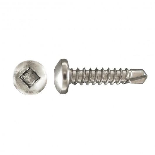 """6 x 1/2"""" DRILL-X Pan Head Socket Drive Self-Drilling Tapping Screws-Zinc Plated"""