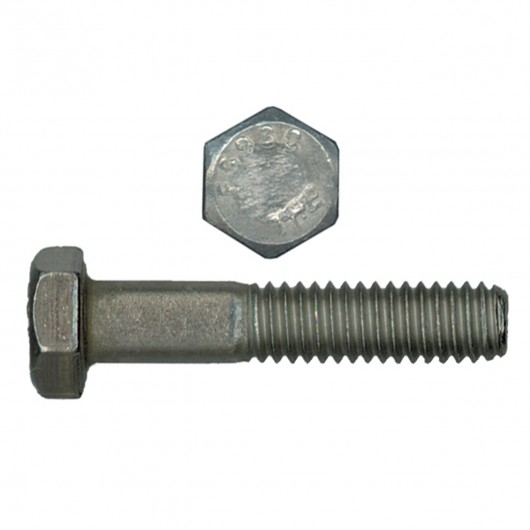 "1""-8 x 8"" 18.8 Stainless Steel Hex Head Cap Screw-UNC"