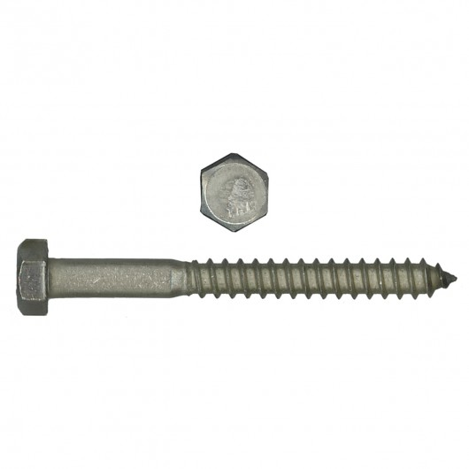 "1/4"" x 5"" 18.8 Stainless Steel Hex Head Lag Bolt"