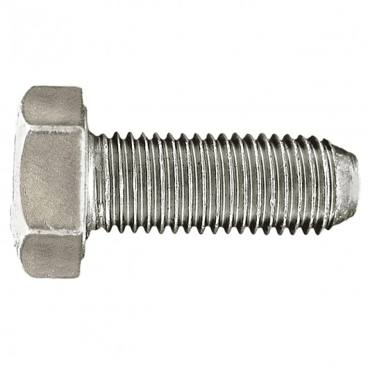 "3/8""-16 x 2 1/2"" 18.8 Stainless Steel Hex Cap Screw Full Thread-UNC"