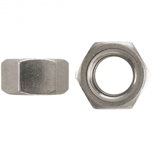 "1/4""-20 18.8 Stainless Steel Finished Hex Nut-UNC"