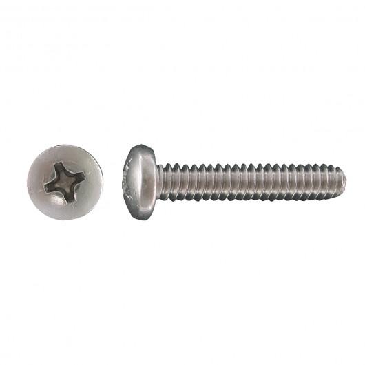 "1/4""-20 x 1"" 18.8 Stainless Steel Pan Head Phillips Machine Screw"