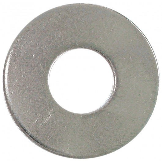 "No.6 (1/8"" B.S.) 18.8 Stainless Steel Flat Washer"