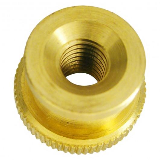 10-32 Brass Knurled Nut-UNF