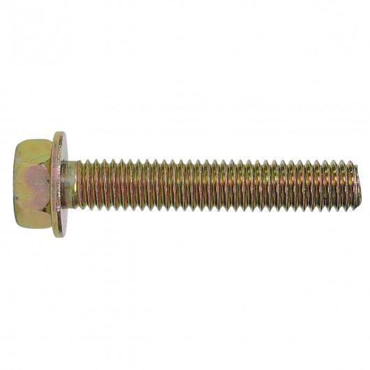 M6-1.0 x 45mm Class 8.8 Metric Hex Bolt With Captive Washers - Yellow Zinc
