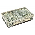 """Cotter Pins Garage Assortment: 340 Pins, 7 sizes from 1/16"""" x 3/4"""" to 5/32"""" x 2""""."""