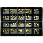 S.A.E. 45° Flare Tube Fittings Master Assortment: Contains 45 Fittings