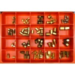 Inverted Flare Fittings Master Assortment: Contains 84 Fittings