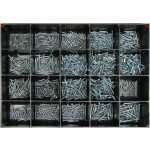 Steel Wood Screw Master Assortment: Contains 850 Flat & Round Head - Socket Screws