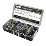 Socket Set Screw Garage Assortment: 5 Hex Keys & 84 Socket Set Screws (10 popular sizes)