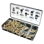 Grease Fittings Assortment Containing 100 Imperial Grease Fittings in 6 Popular Sizes