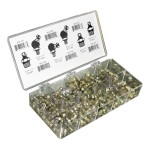 Grease Fittings Assortment Containing 100 Metric Grease Fittings in 6 Popular Sizes
