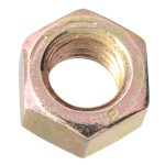 """7/16""""-14 Finished Hex Nut - Zinc Plated - Grade 8 - UNC"""