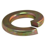 "1/2"" Papcolloy Extra Duty Spring Lock Washers-Gold Zinc Plated"