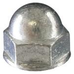 """3/8""""-16 Steel-Acorn (Cap) Hex Nut-Zinc Plated"""