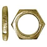 "1/4""-32 Brass Panel Thin Nut"