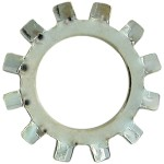 """No.6 (1/8"""" B.S.) External Tooth Lock Washers-Zinc Plated"""