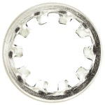 """1/4"""" Internal Tooth Lock Washers-Zinc Plated"""