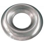 "1/4"" Brass Countersunk Finishing Washer-Standard Type-Nickel Plated"