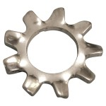 """1/4"""" 410 Stainless Steel External Tooth Lock Washers"""