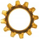 "No.6 (1/8"" B.S.) Phosphor Bronze External Tooth Lock Washers"