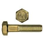 M8-1.25 x 20mm Class 10.9 Metric Hex Bolt - DIN 933 - Zinc Plated