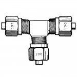 """3/8"""" Union Tee-Tube All Ends"""