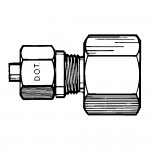 """3/4"""" x  1/2"""" Female Connector-Tube to Female Pipe"""