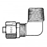 """3/8"""" x 1/8"""" Male Elbow 90°-Tube to Male Pipe"""