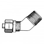 """1/4"""" x 1/4"""" Male Elbow 45°-Tube to Male Pipe"""