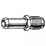 """3/8"""" x 3/8"""" Male Inverted Connector"""