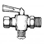 "3/8"" x 3/8"" Shut-off Cock Plug Type-Compression Tube to Male Tube"