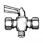 "3/8"" Shut-off Cock Plug Type-Compression Tube to Tube"