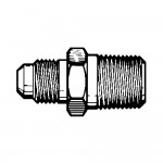 """1/4"""" x 1/4"""" Flare Ball Check Connector - Tube to Pipe"""