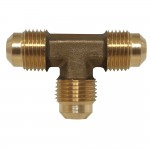 """1/4"""" Flare Tee - Extruded - Tube on 3 Ends"""