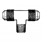 """3/16"""" x 1/8"""" Flare Tee - Extruded - Male Pipe on Branch"""