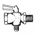 """3/8"""" Shut-off Cock Plug Type-Female Pipe to Pipe"""