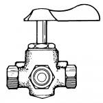 "1/4"" x 1-3/8"" Shut-off Cocks Plug Type-3 Way Bracket Mounting Side Outlet"