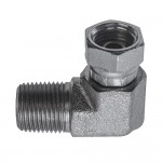 """1/4"""" x 3/8"""" Female Pipe Swivel Elbow 90° -To Male Pipe"""