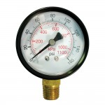 Dry Pressure Gauges-J-Series 0-100 PSIG Back Connection