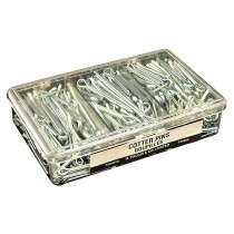 "Cotter Pins Garage Assortment: 340 Pins, 7 sizes from 1/16"" x 3/4"" to 5/32"" x 2""."