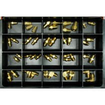S.A.E. 45 Degree Flare Tube Fittings Master Assortment: Contains 45 Fittings